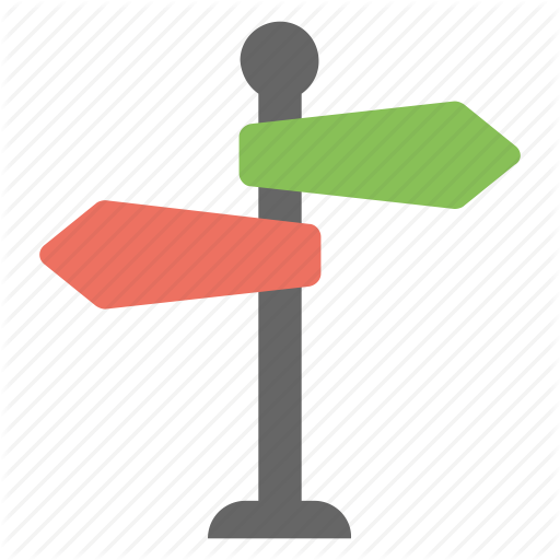 Fingerpost, Guidepost, Signpost, Street Sign, Traveling Sign Icon