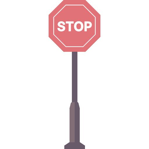 Stopping, Signaling, Stop, Circulation, Signs, Traffic Sign Icon