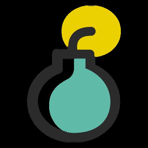 Bomb Colored Stroke Icon