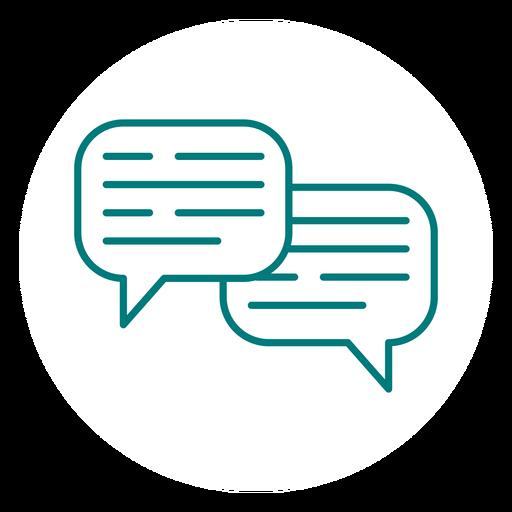 Chat Communication Stroke Icon
