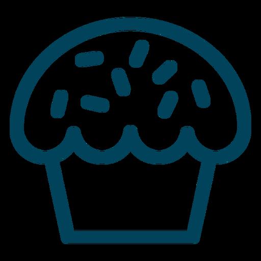 Muffin Stroke Icon