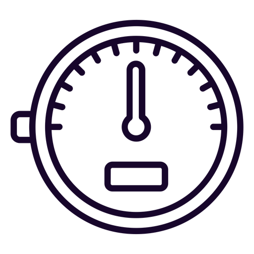 Speed Meter Stroke Icon