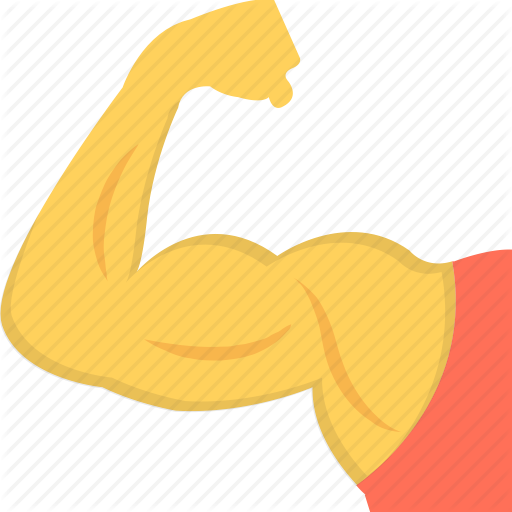 Bic Fitness, Muscle, Muscular Arm, Strong Arm Icon