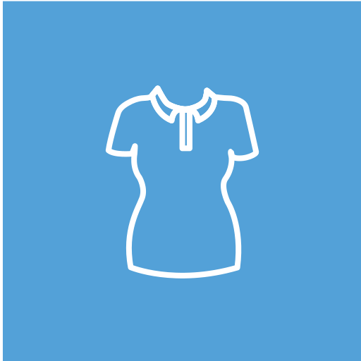 Woman's, Collared, T, Shirt Icon Free Of Clothing Icons Strong Bg