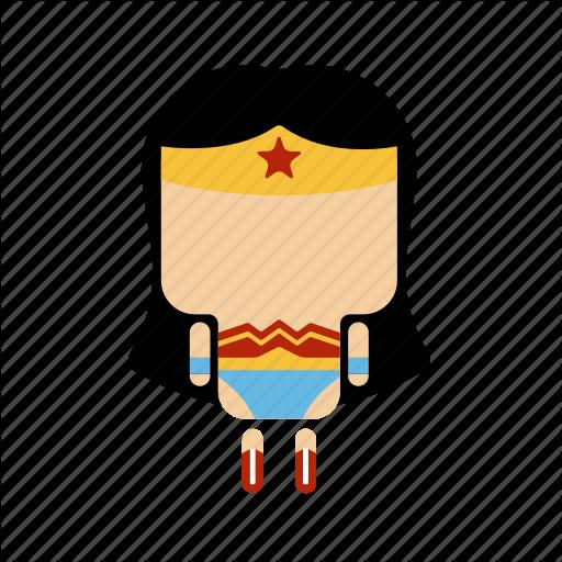 Cute, Hero, Mini, Strong, Woman Icon
