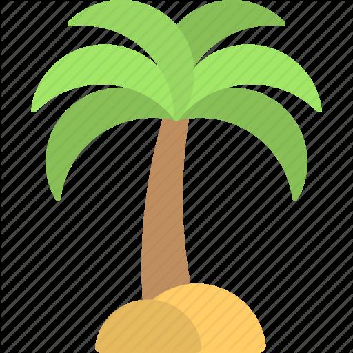 Island, Palm Tree, Sand Tree, Travelling, Tropical Tree Icon