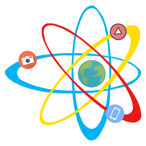 Cropped Set Of Science Stuff Icon Lab Cartoon Vector