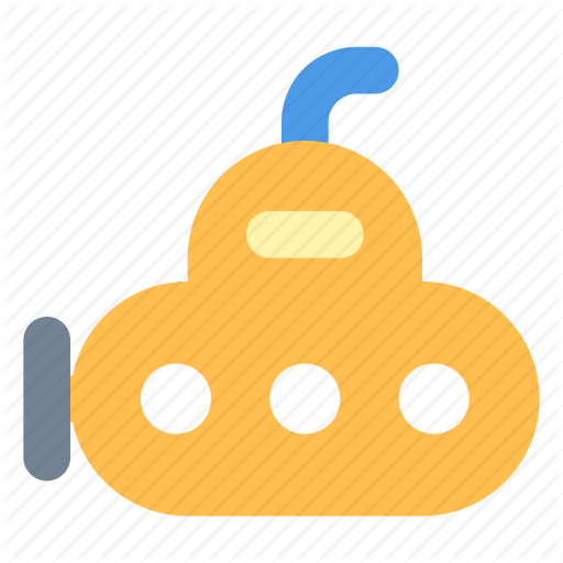 Bathyscaph, Submarine, Yellow Icon
