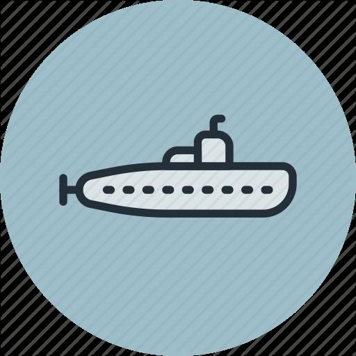 Boat, Military, Submarine, Underwater Icon