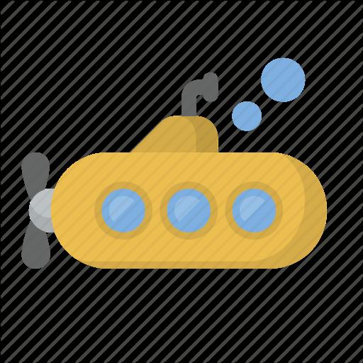Deep, Dive, Explore, Ocean, Sea, Submarine, Yellow Icon
