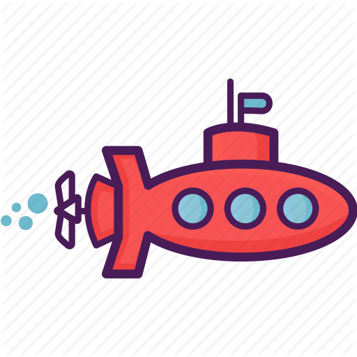 Periscope, Sea, Submarine, Underwater Icon