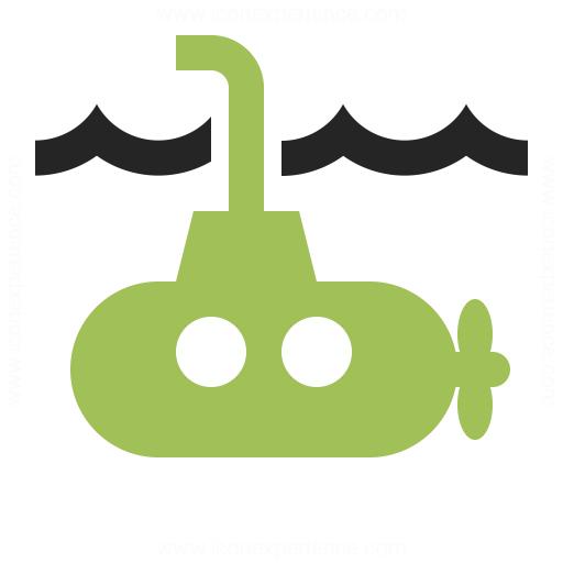 Submarine Icon Iconexperience