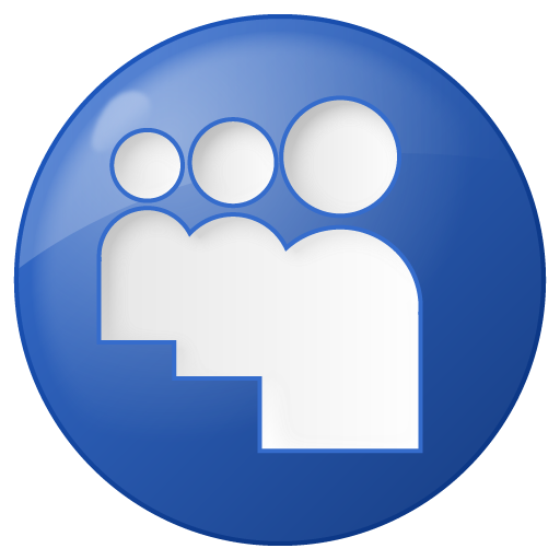 Social Myspace Button Blue Icon Social Bookmark Iconset Yootheme