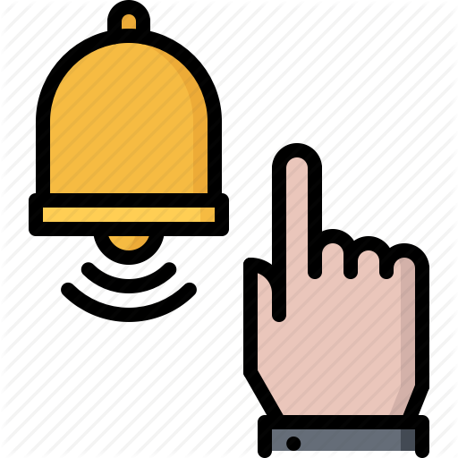 Bell, Blog, Click, Finger, Hand, Network, Social Icon
