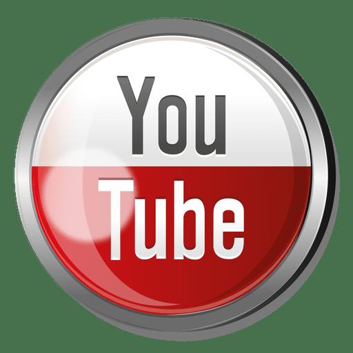 Youtube Round Metal Button