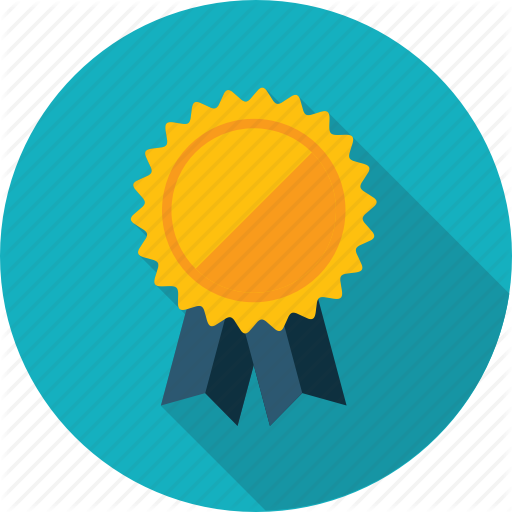 Award, Badge, Long Shadow, Recommendation, Success Icon