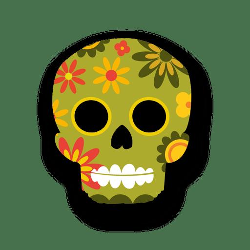 Colorful Floral Sugar Skull