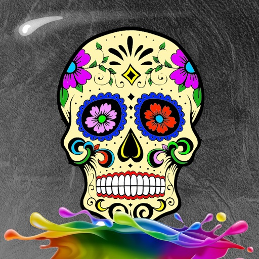 Halloween Sugar Skull Coloring Book For Adults