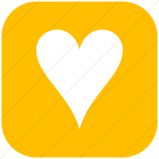 Flat Rounded Square White On Yellow Classica Black