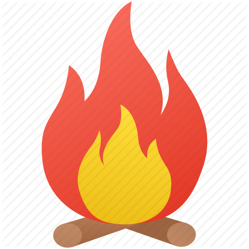 Bonfire, Campfire, Holiday, Summer Icon