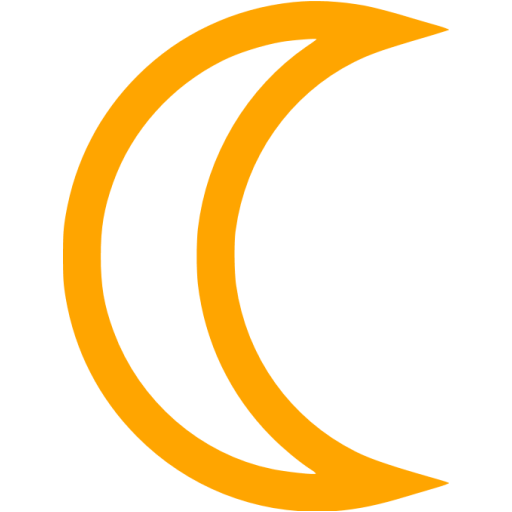 Orange Moon Icon