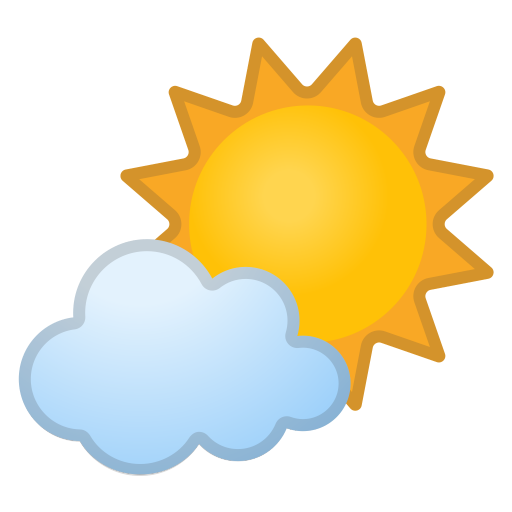 Sun Behind Small Cloud Icon Noto Emoji Travel Places Iconset