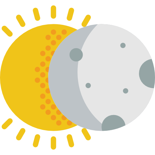 Space, Partial, Sun, Astral, Eclipses, Covering, Weather, Eclipse