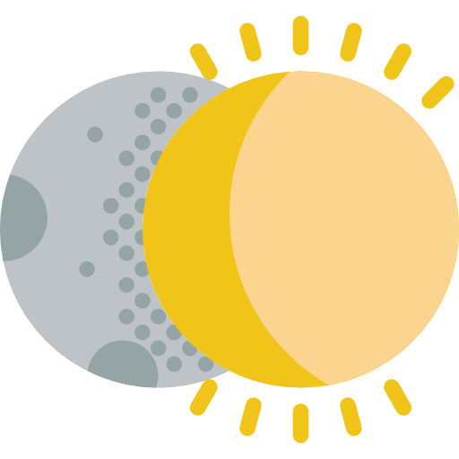 Weather, Space, Covering, Partial, Sun, Eclipse, Moon, Eclipses