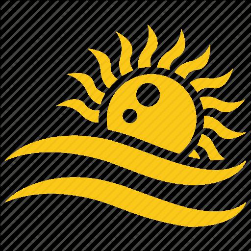 Beach Sun, Ocean Sun, Picnic Concept, Solar Sun, Sun Icon