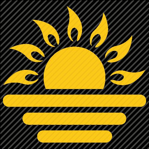 Half Sun, Solar Sun, Sun, Sunrise, Sunset Icon