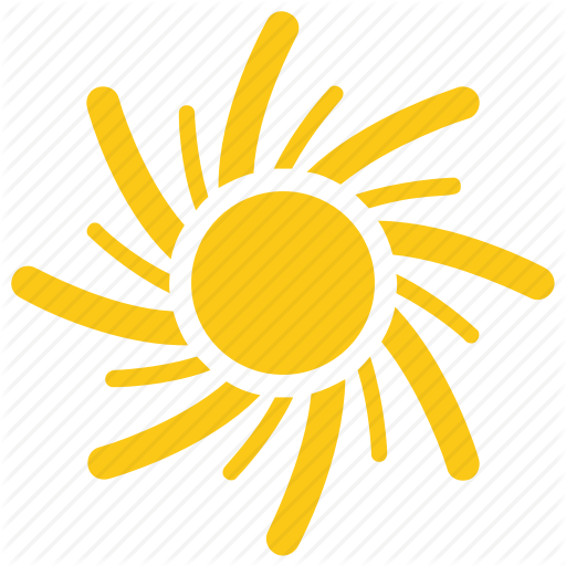 Solar Sun, Sun, Sun Rays, Sun Shape, Swirling Sun Icon