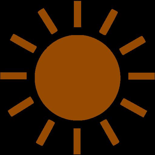 Brown Sun Icon