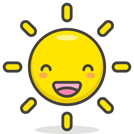 Sun, With, Face Icon Free Of Free Vector Emoji
