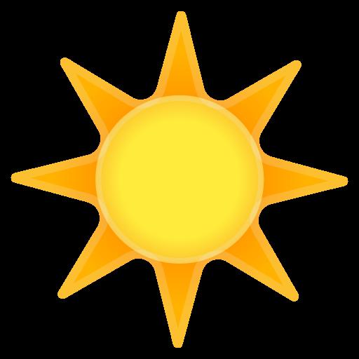 Sun Icon Noto Emoji Travel Places Iconset Google