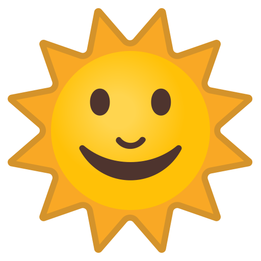 Sun With Face Icon Noto Emoji Travel Places Iconset Google