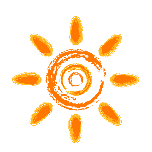 Crayon Style Sun Icon Free Icons Download