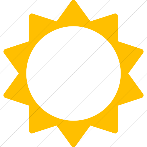 Simple Yellow Bootstrap Font Awesome Sun O Icon