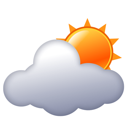 Sun Behind Cloud Emoji For Facebook, Email Sms Id