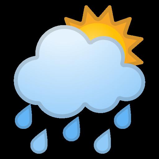 Sun Behind Rain Cloud Icon Noto Emoji Travel Places Iconset
