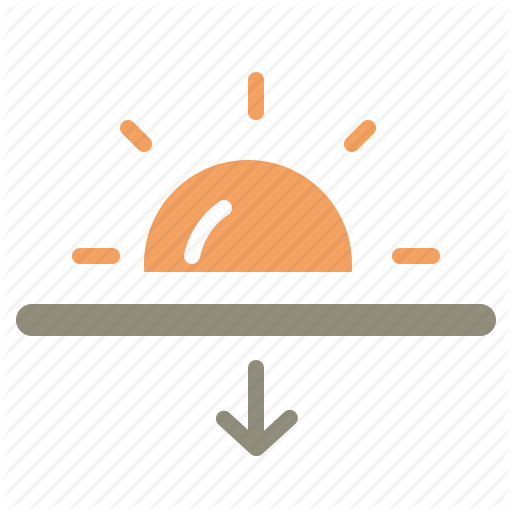Sunset Icon Clipart