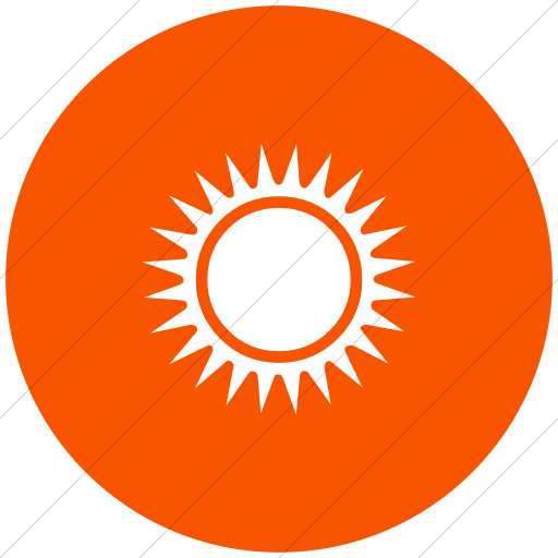 Flat Circle White On Orange Classica Black Sun