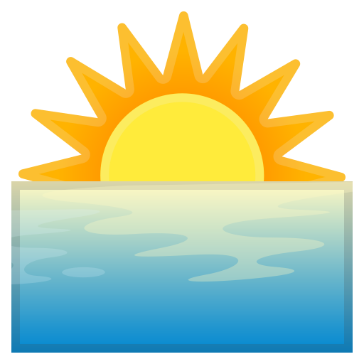 Sunrise Icon Noto Emoji Travel Places Iconset Google