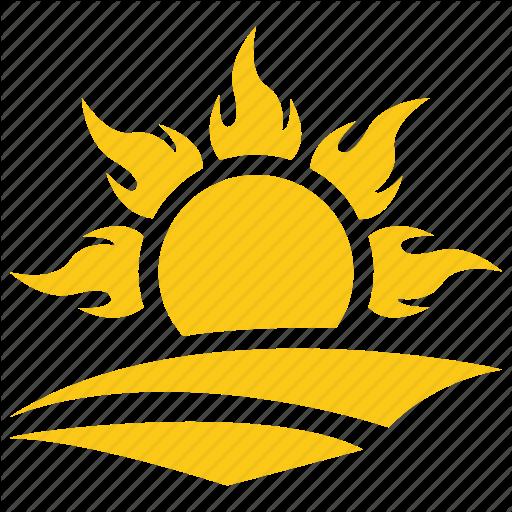 Beach Sun, Ocean Sun, Solar Sun, Sun, Sun Rays Icon