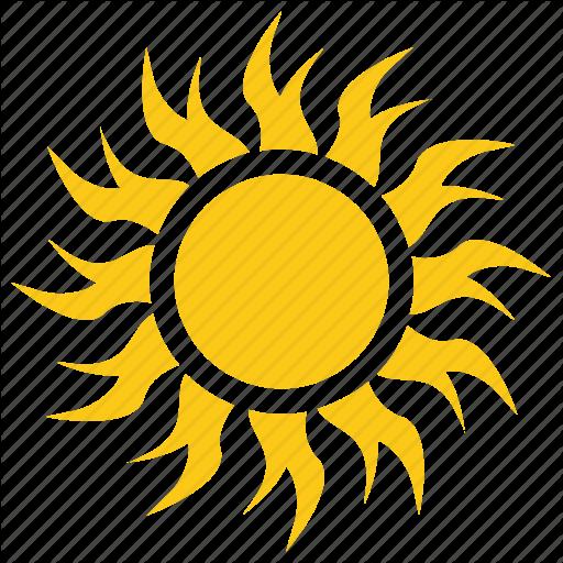 Burning Sun, Summer Sun, Sun, Sun Radiation, Sun Rays Icon
