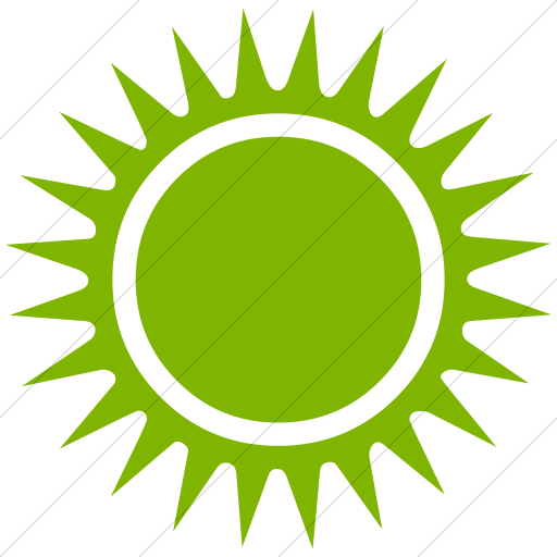 Simple Green Classica Black Sun With Rays Icon