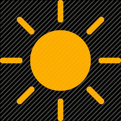 Clear, Hot, Summer, Sun, Sunny, Sunshine, Weather Icon