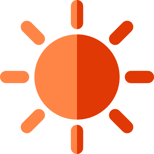 Sunny, Sun, Weather, Forecast Icon