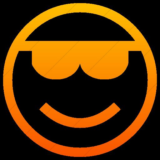 Simple Orange Gradient Classic Emoticons Smiling Face