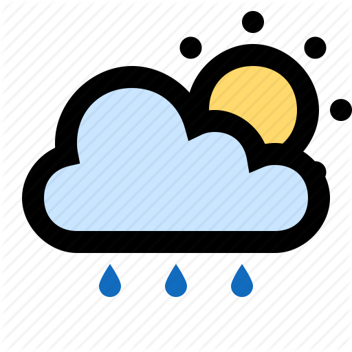 Drizzle, Partly Cloudy, Rain, Raining, Sun, Sunny Icon