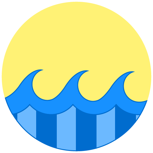 Summer, Waves, Sunny Icon